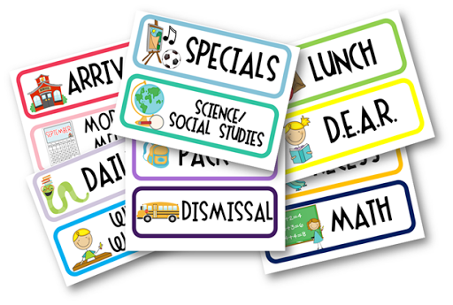 School Schedule Clipart