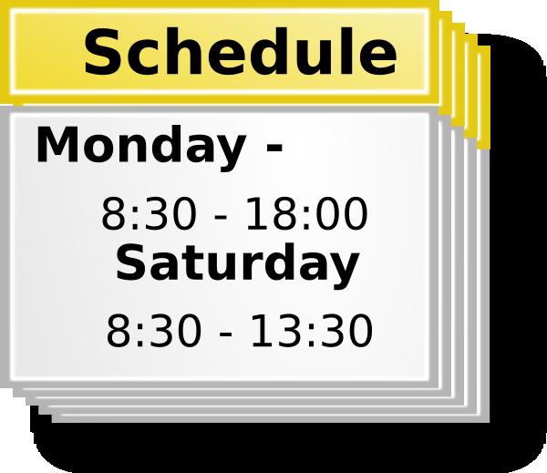 Schedule clipart. Symbol clip art at