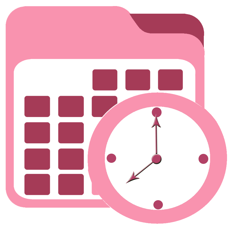 Booking calendar after glow. Schedule clipart appointment book