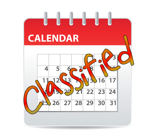 Schedule clipart calendar page. Human resources classified calendars