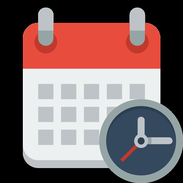 Schedule clipart calendar page. Wolf den library