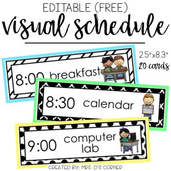 Schedule clipart card. Free use this editable
