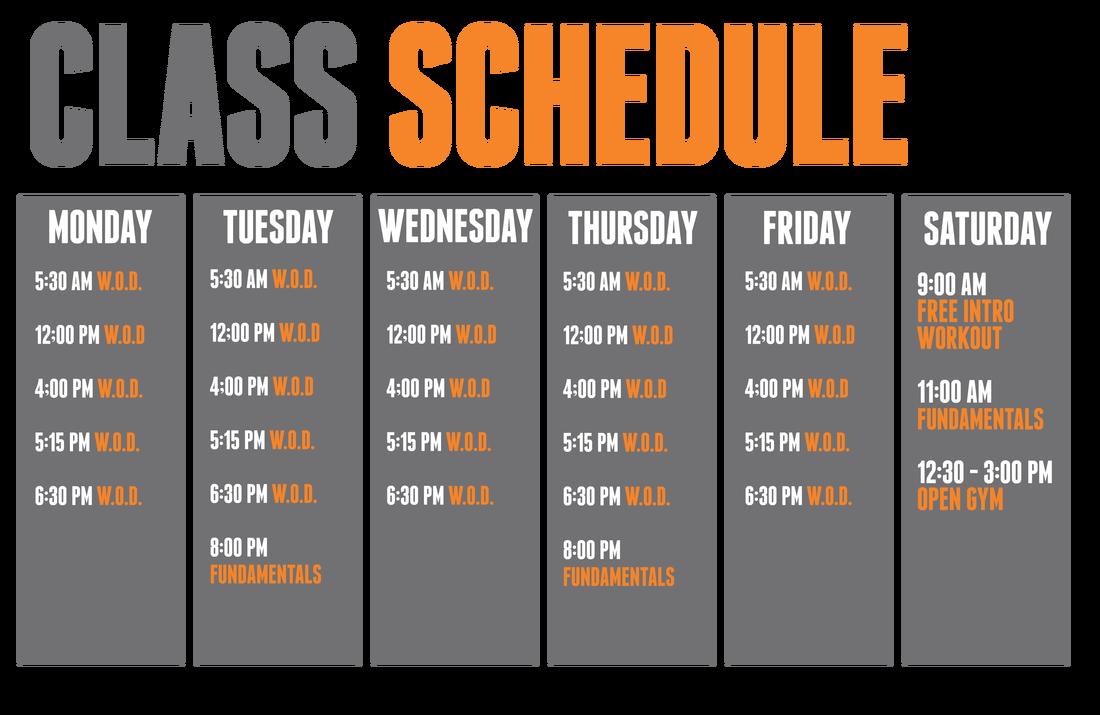 Crossfit juneau picture. Schedule clipart class schedule