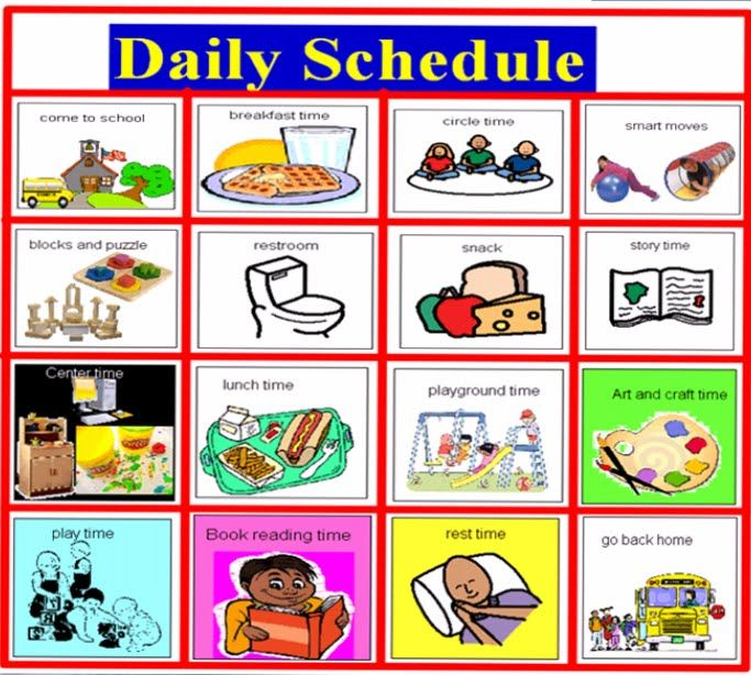 Schedule clipart classroom routine. Daily picture for my