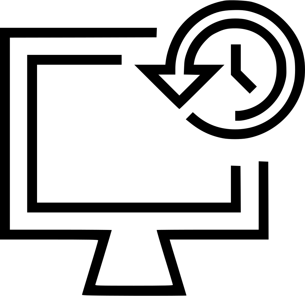 Backup history svg png. Schedule clipart computer time