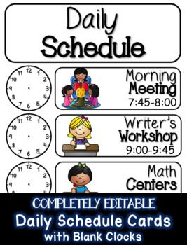 schedule clipart elementary