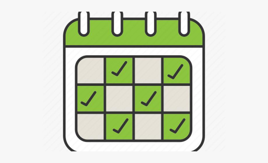 Date planner calendar color. Schedule clipart free clipart