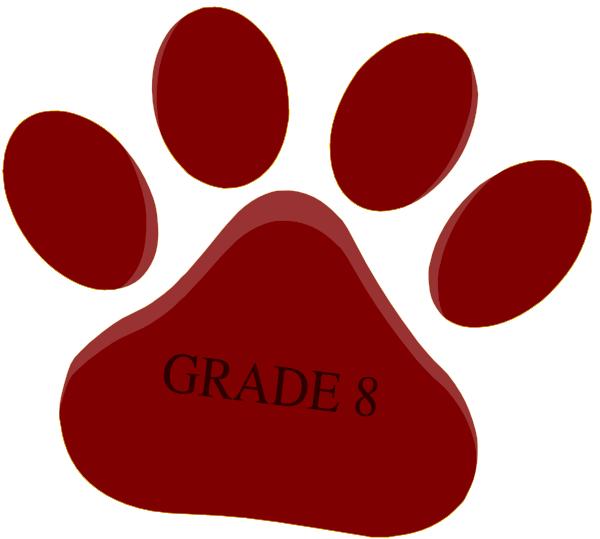 Pomegranate paw dark grey. Schedule clipart grade 8