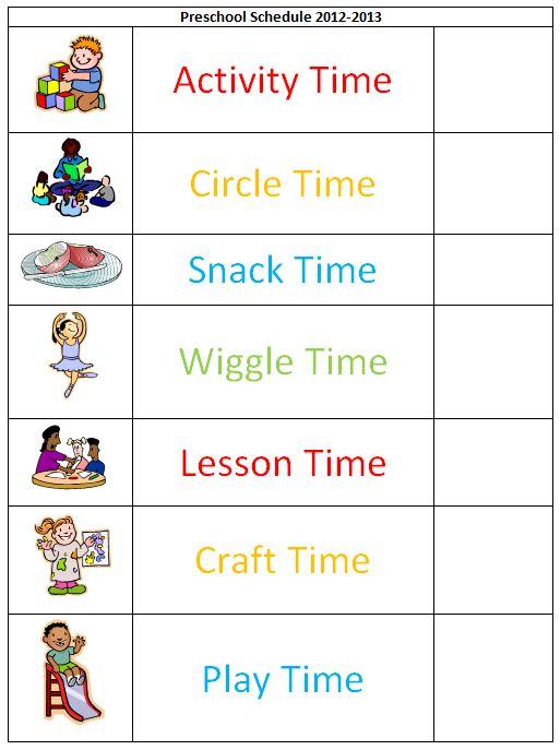 Schedule clipart kindergarten. Calendar station