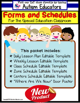 Schedule clipart lesson plan. Forms editable with templates