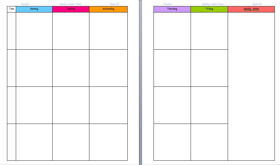 Awesome teacher planning day. Schedule clipart lesson plan