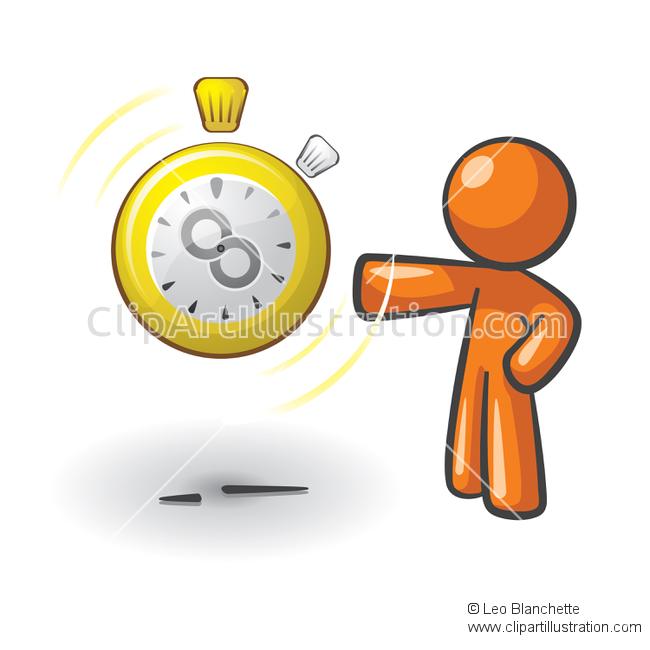 Illustration orange man infinite. Schedule clipart life