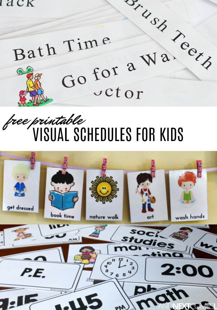 Schedule clipart printable. Free visual printables to