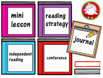 Reader s signs labels. Schedule clipart reading workshop