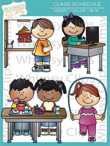 Class clip art school. Schedule clipart science