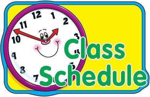 Classroom procedures clip art. Schedule clipart sign