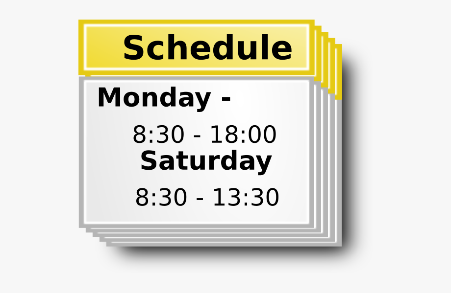 Schedule clipart sign. Symbol clip art free
