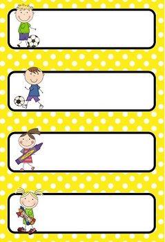 Schedule clipart teacher's. Editable daily cards polka