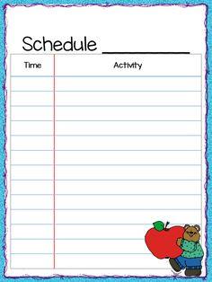 Schedule clipart teacher's.  best classroom images