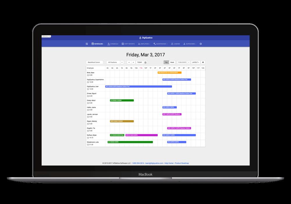 Staff scheduling module digiquatics. Schedule clipart time off request