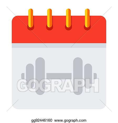 Schedule clipart training calendar. Eps vector stock