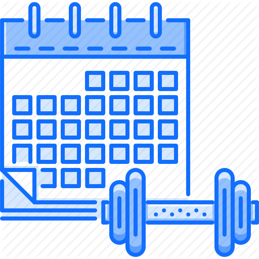 sport by last. Schedule clipart training calendar