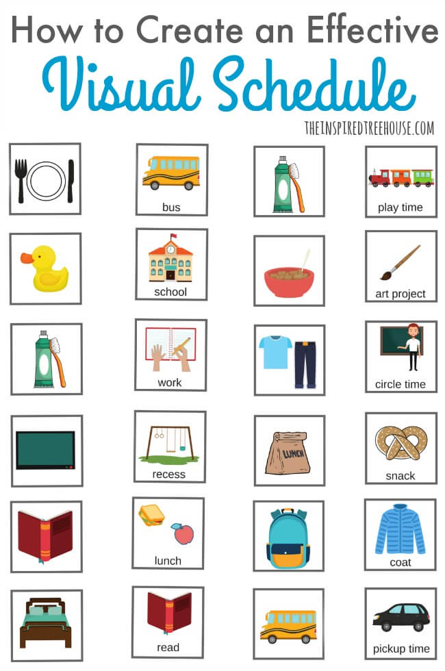 Schedule clipart visual. How to make a