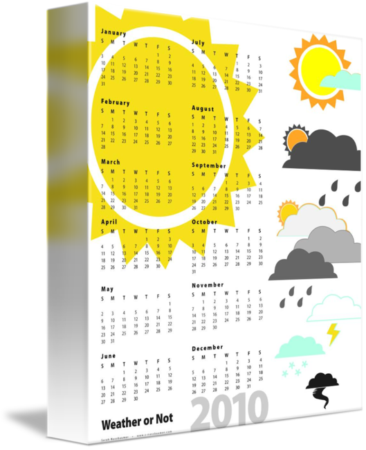Weather or not poster. Schedule clipart wall calendar