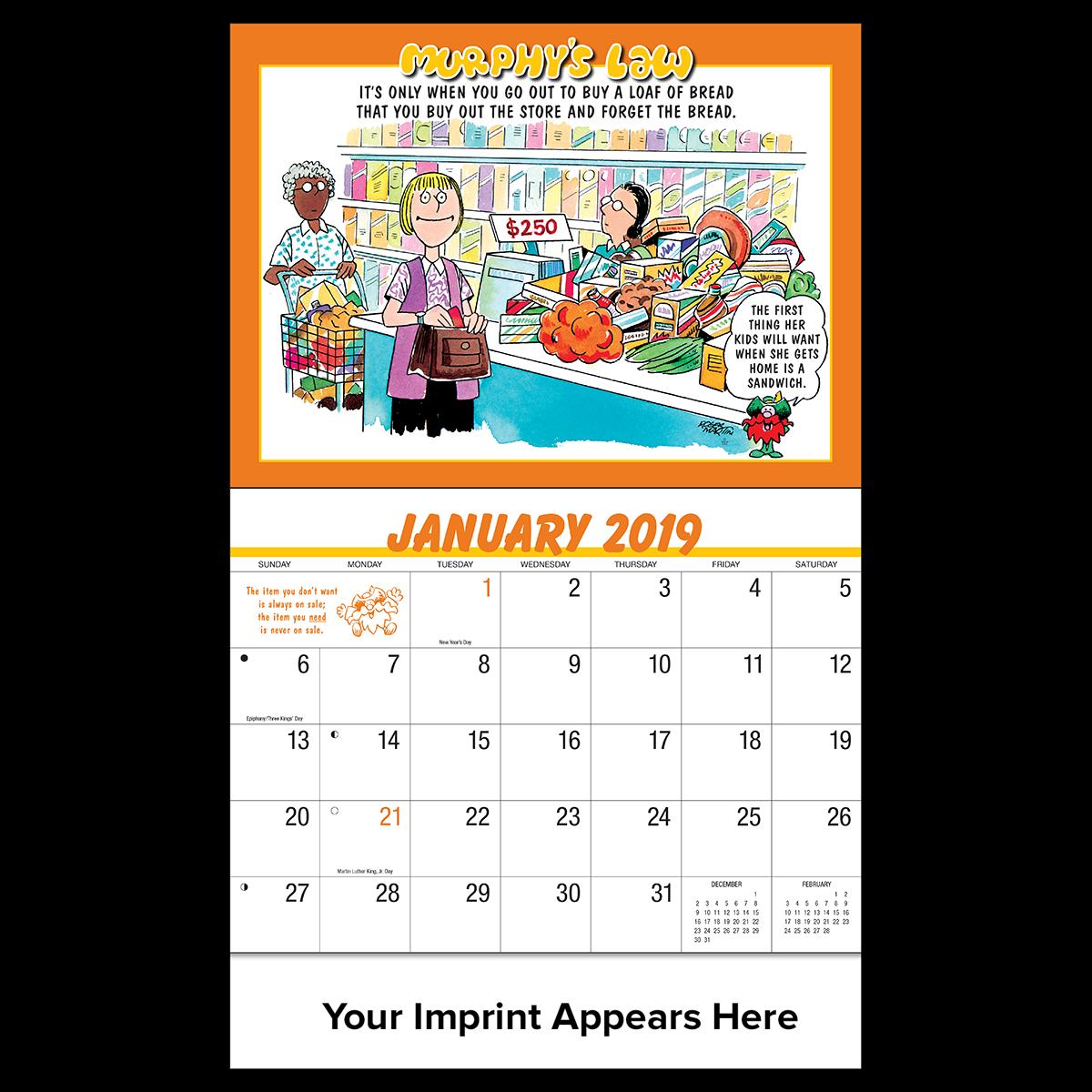 Murphy s law mines. Schedule clipart wall calendar