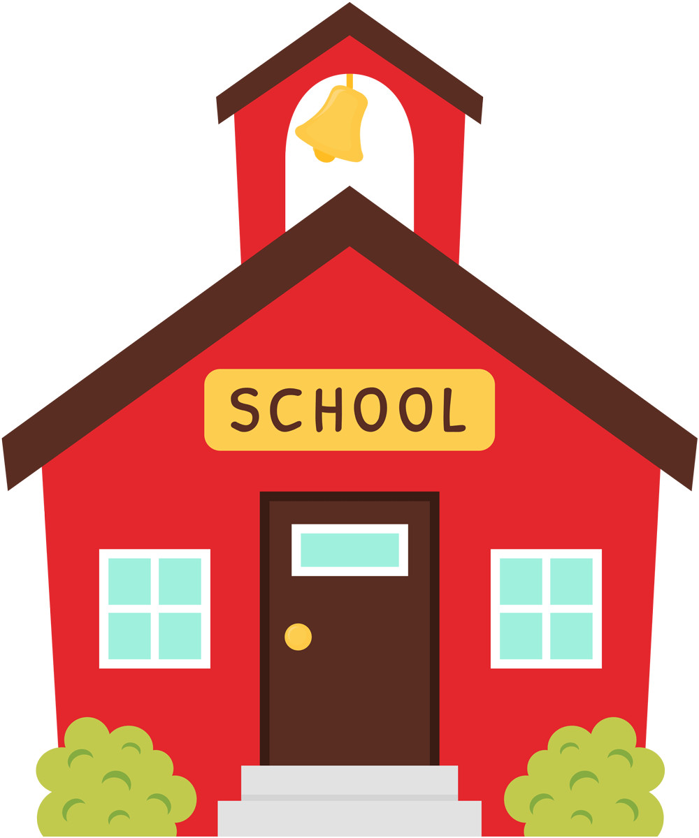 collection of little. Schoolhouse clipart