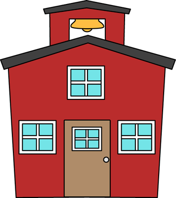 Schoolhouse clipart. Clip art images red