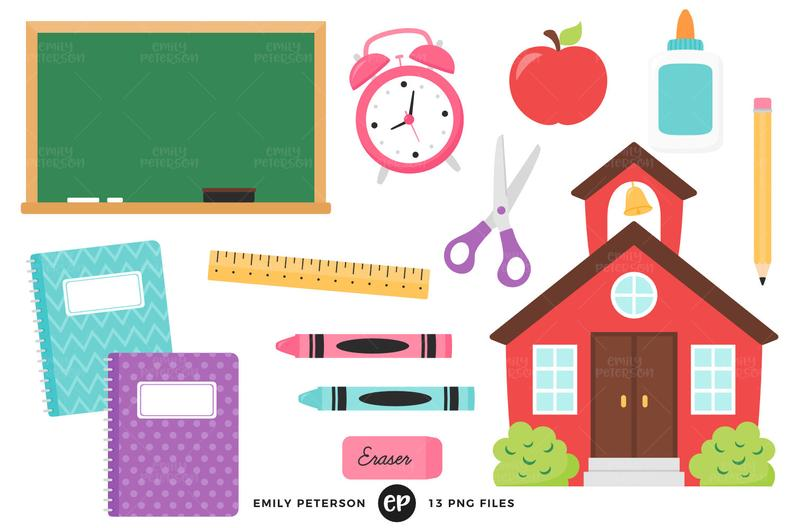 Schoolhouse clipart back to school. Clip art commercial use