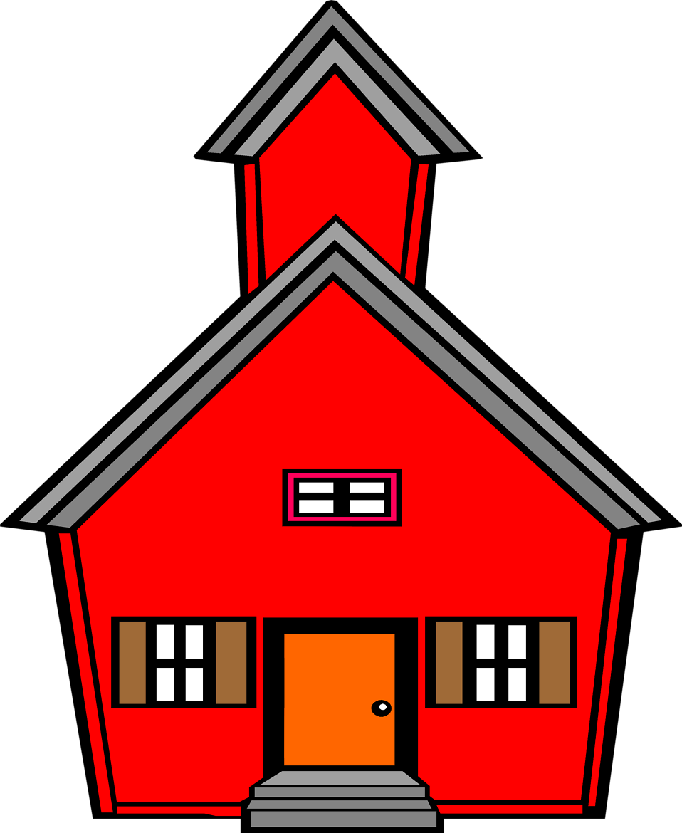 School house student clip. Schoolhouse clipart clear background