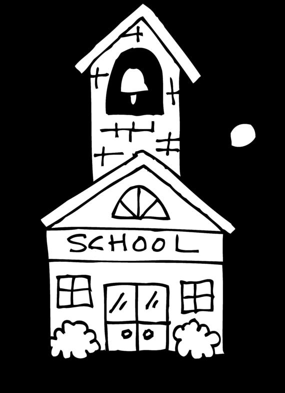 School house outline halloween. Schoolhouse clipart cute