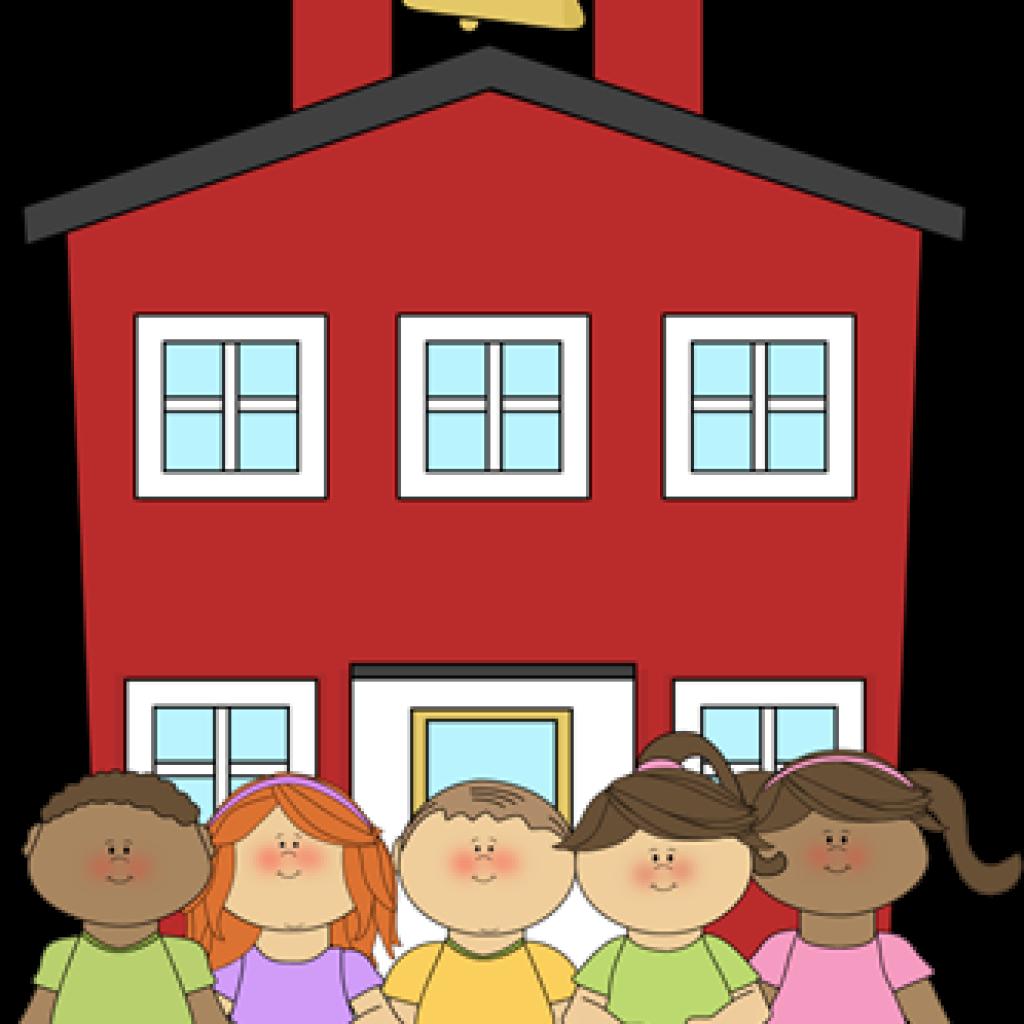 Schoolhouse clipart cute. School earth hatenylo com