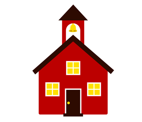 Schoolhouse clipart end school day. Free cartoon house download