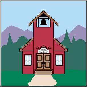 Clip art color i. Schoolhouse clipart little red schoolhouse