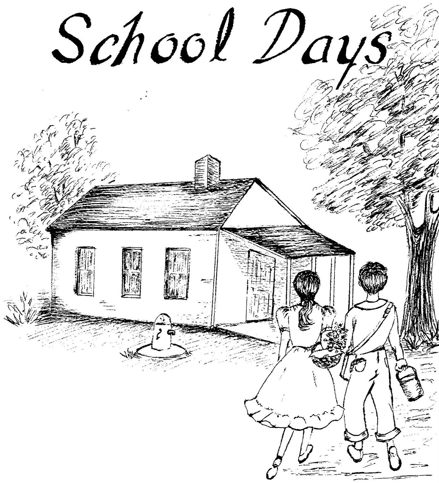 One room school house. Schoolhouse clipart memories