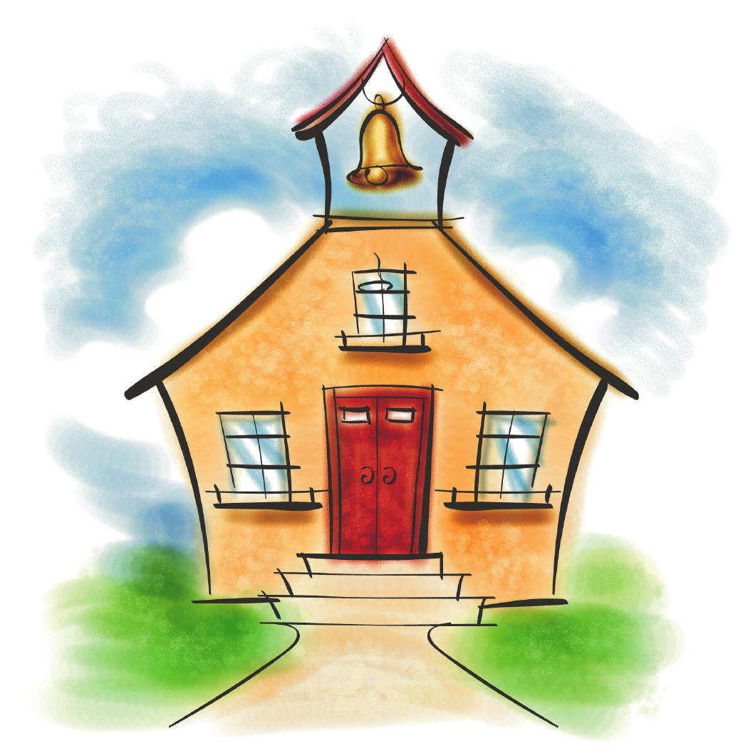 Schoolhouse clipart memories. First of going to