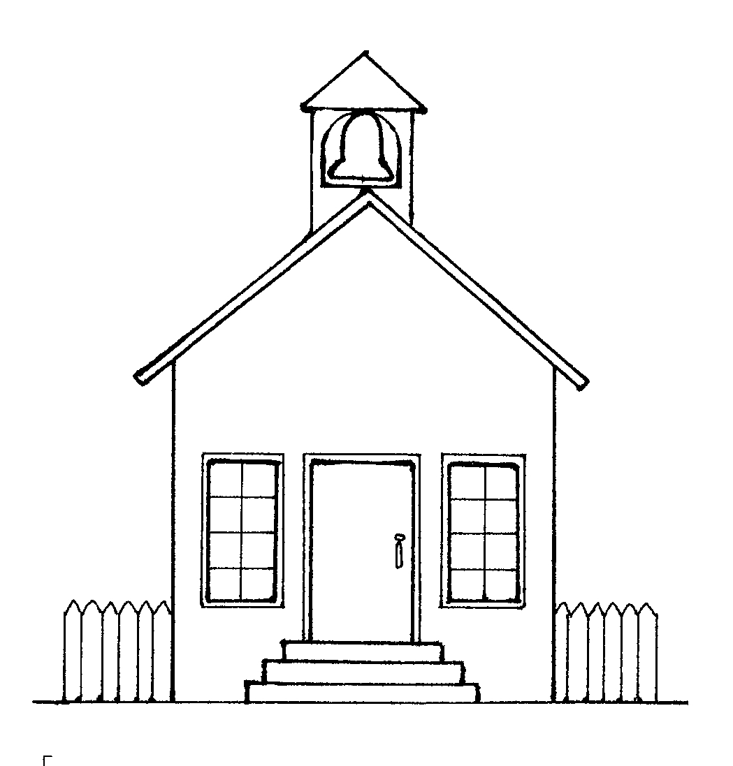 Schoolhouse clipart outline. Free school house download