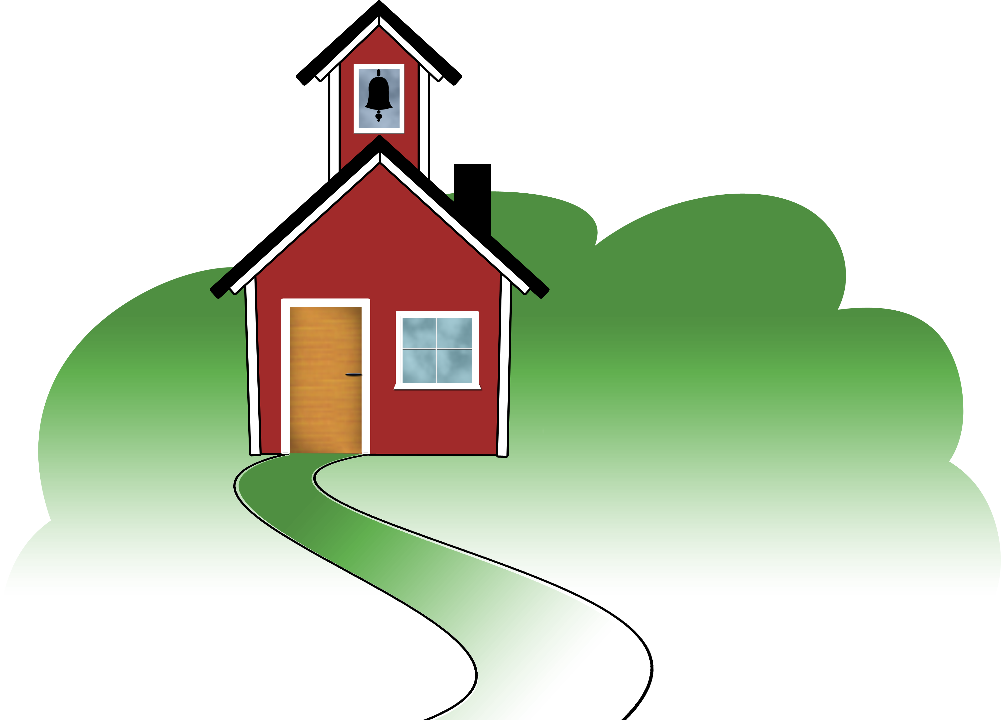 Angell s home logo. Schoolhouse clipart school roof