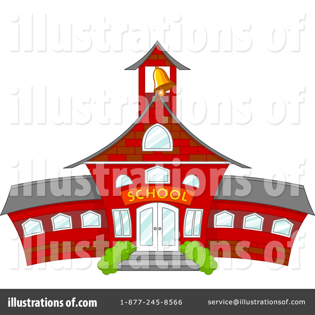Schoolhouse clipart school roof. House illustration by pushkin