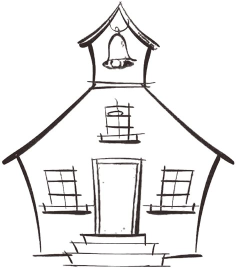 House at paintingvalley com. Schoolhouse clipart school sketch
