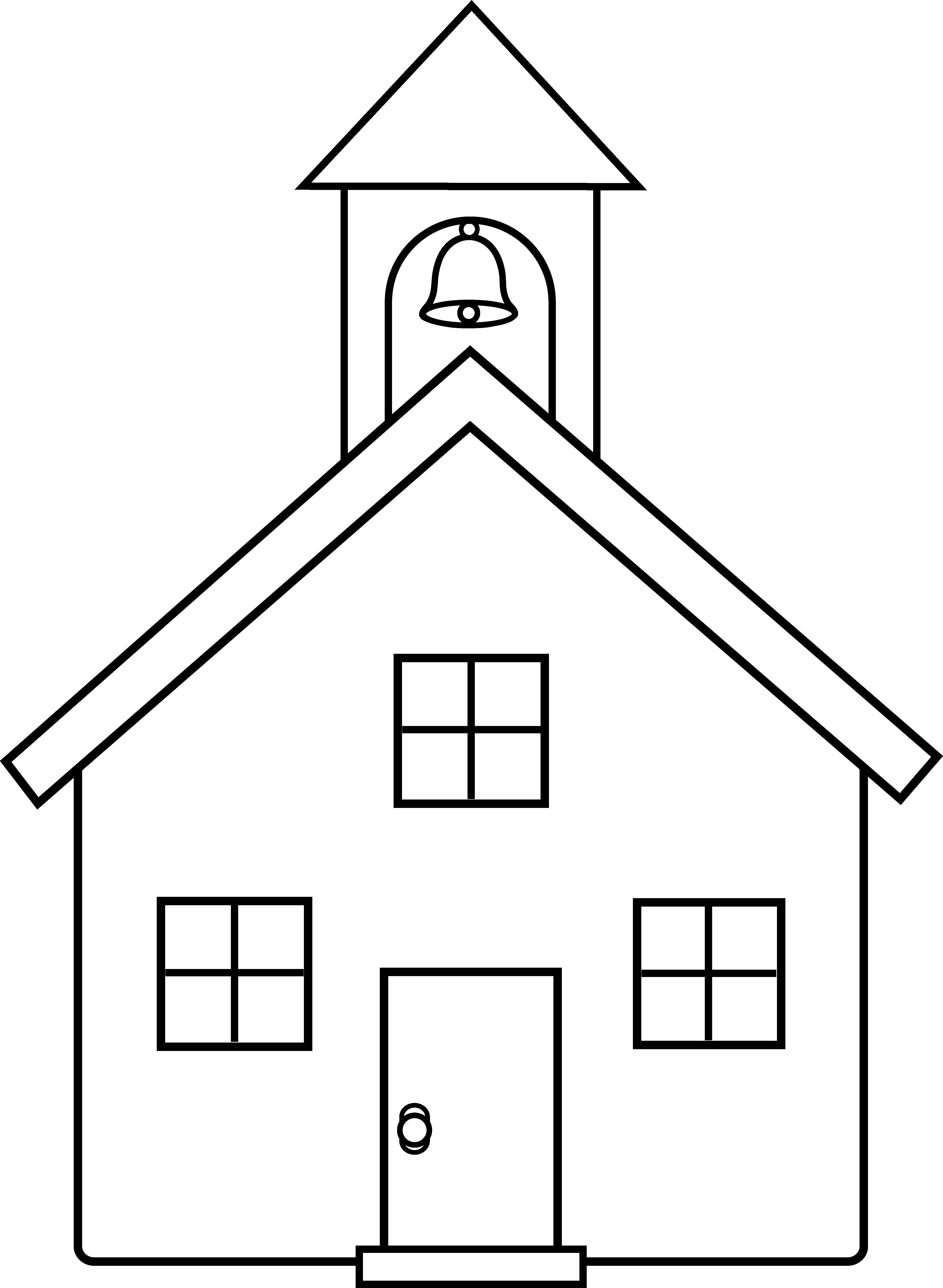 Schoolhouse clipart school sketch. Old house drawing at