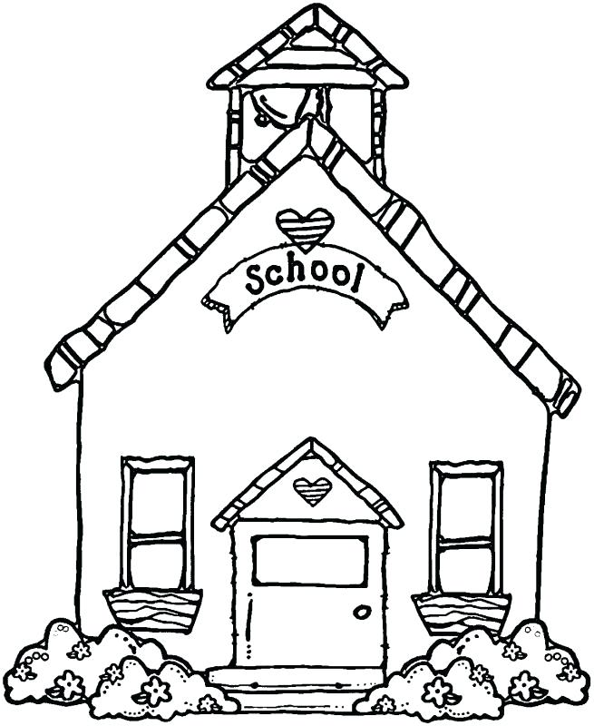 House drawing free download. Schoolhouse clipart school sketch