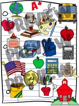 Set back to school. Schoolhouse clipart september