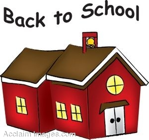 School house clip art. Schoolhouse clipart september