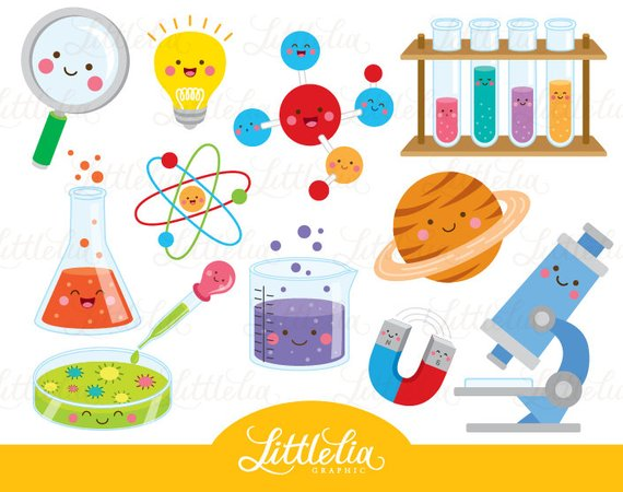 Scientist clipart. Science kawaii from littleliagraphic