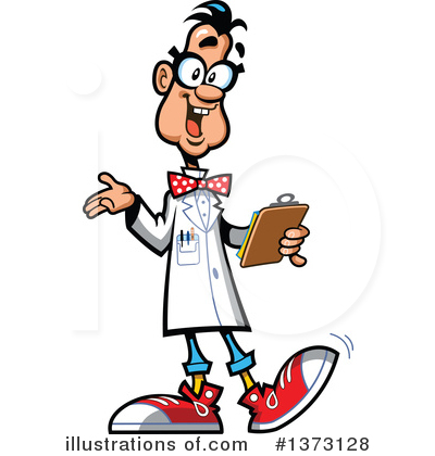 Illustration by clip art. Scientist clipart