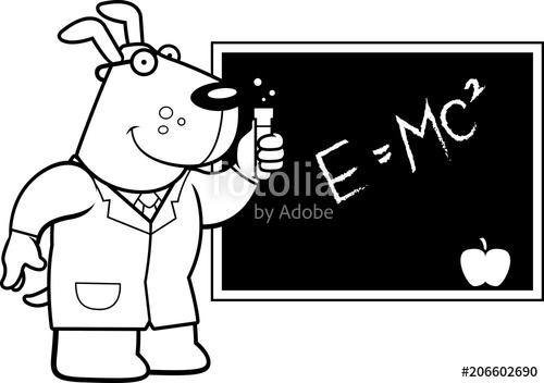Scientist clipart dog. Cartoon stock image and